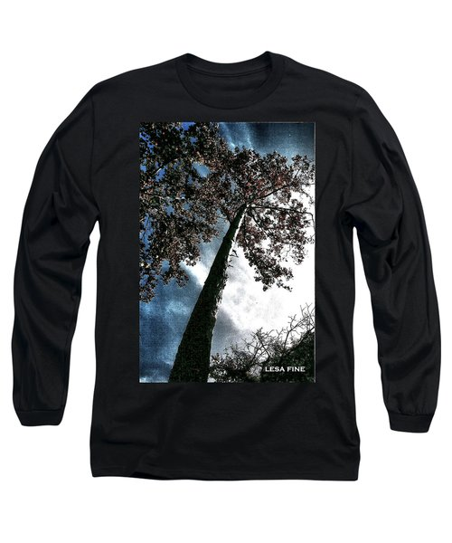 Tippy Top Tree II Art Long Sleeve T-Shirt by Lesa Fine