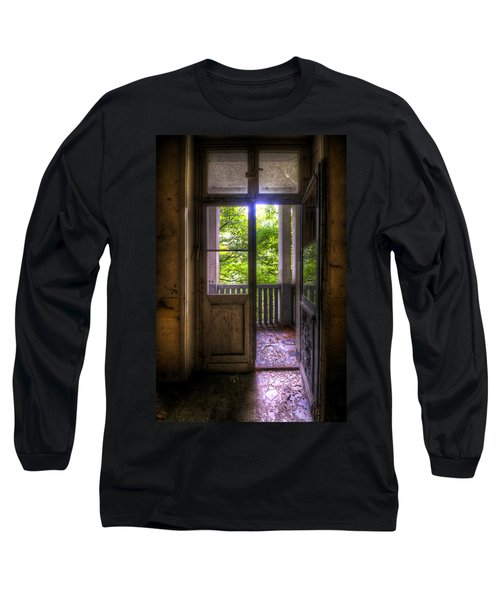 To The Balcony  Long Sleeve T-Shirt by Nathan Wright