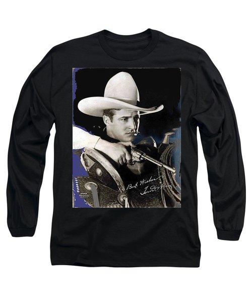 Tom Mix Portrait Melbourne Spurr Hollywood California C.1925-2013 Long Sleeve T-Shirt