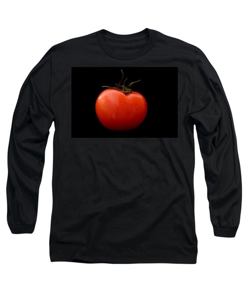 Tomato On Black Long Sleeve T-Shirt