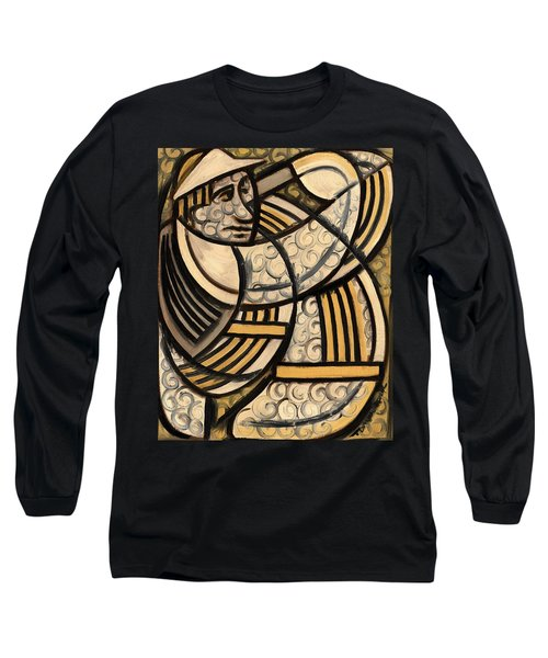 Tommervik Golf Swing Slice Art Print Long Sleeve T-Shirt