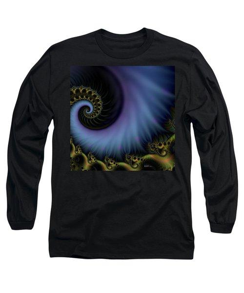 Long Sleeve T-Shirt featuring the digital art Tornado Dancers by Elizabeth McTaggart
