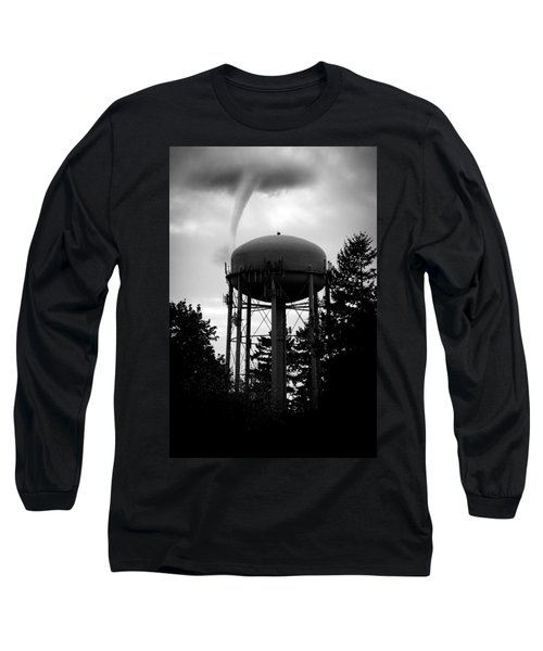 Nature Long Sleeve T-Shirt featuring the photograph Tornado Tower by Aaron Berg