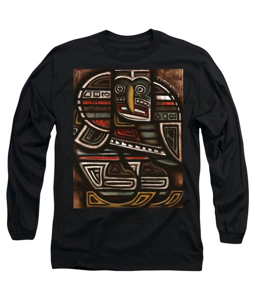 Tommervik Totem Hockey Player Art Print Long Sleeve T-Shirt