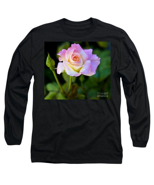 Rose-touch Me Softly Long Sleeve T-Shirt by David Millenheft