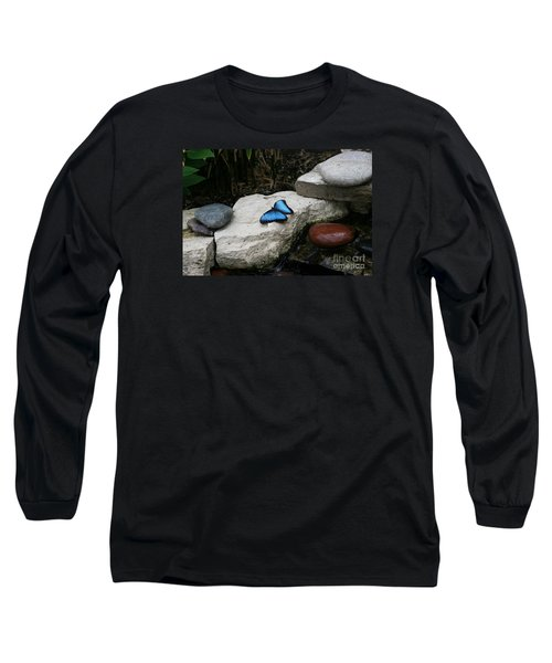 Touch Of Blue Long Sleeve T-Shirt by Judy Whitton
