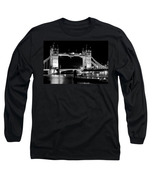 Long Sleeve T-Shirt featuring the photograph Tower Bridge At Night by Maj Seda