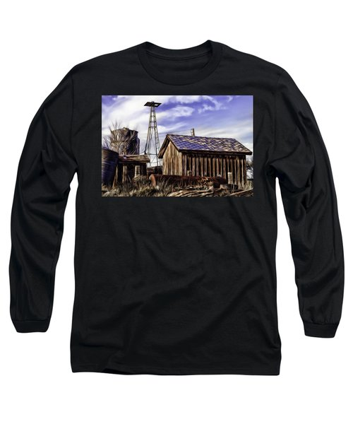 Long Sleeve T-Shirt featuring the painting Tower by Muhie Kanawati