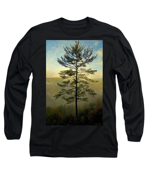 Long Sleeve T-Shirt featuring the photograph Towering Pine by Suzanne Stout