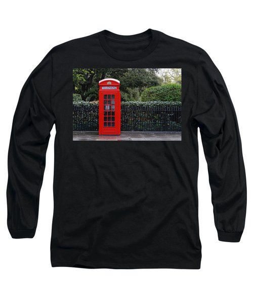 Traditional Red Telephone Box In London Long Sleeve T-Shirt