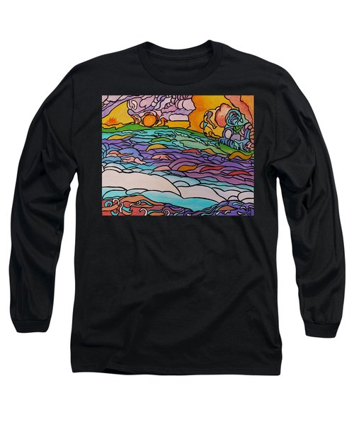Long Sleeve T-Shirt featuring the painting Tragic by Barbara St Jean
