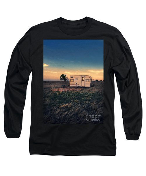 Trailer At Dusk Long Sleeve T-Shirt by Jill Battaglia