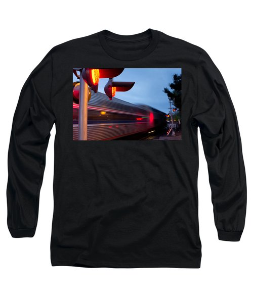 Train Crossing Road Long Sleeve T-Shirt