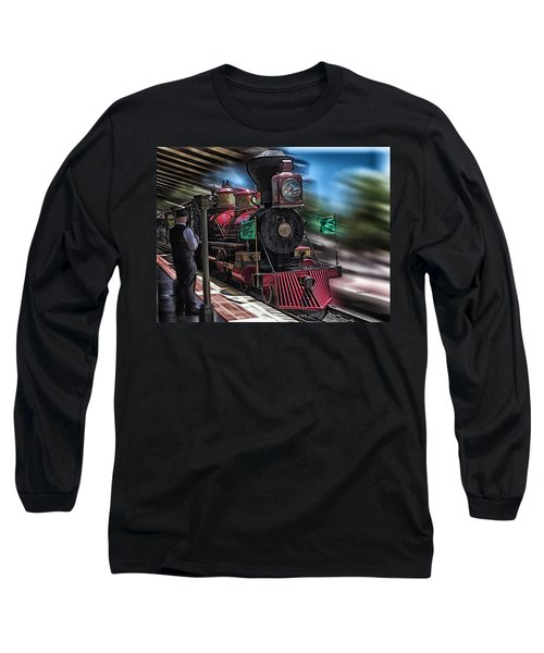 Train Ride Magic Kingdom Long Sleeve T-Shirt by Thomas Woolworth