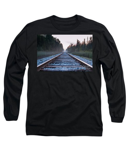 Long Sleeve T-Shirt featuring the photograph Train Tracks To Nowhere by Patrick Shupert