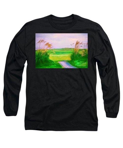 Tralee Ireland Water Color Effect Long Sleeve T-Shirt by Tom Prendergast