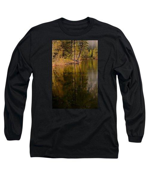 Tranquil Merced River Long Sleeve T-Shirt