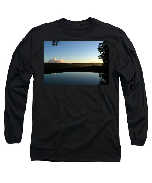 Long Sleeve T-Shirt featuring the photograph Tranquility by Evelyn Tambour