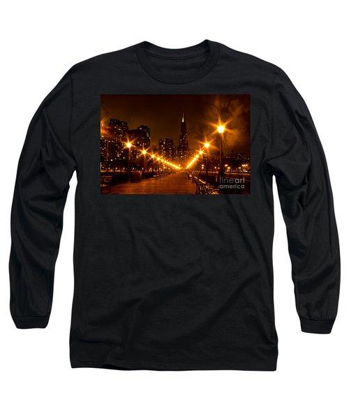 Transamerica Pyramid From Pier Long Sleeve T-Shirt