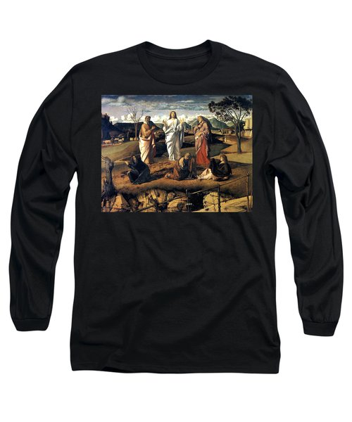 Long Sleeve T-Shirt featuring the painting Transfiguration Of Christ 1487 Giovanni Bellini by Karon Melillo DeVega