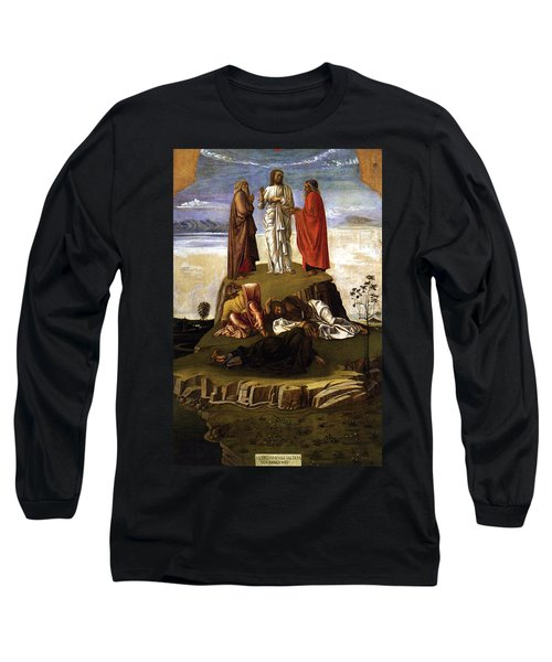 Long Sleeve T-Shirt featuring the painting Transfiguration Of Christ On Mount Tabor 1455 Giovanni Bellini by Karon Melillo DeVega
