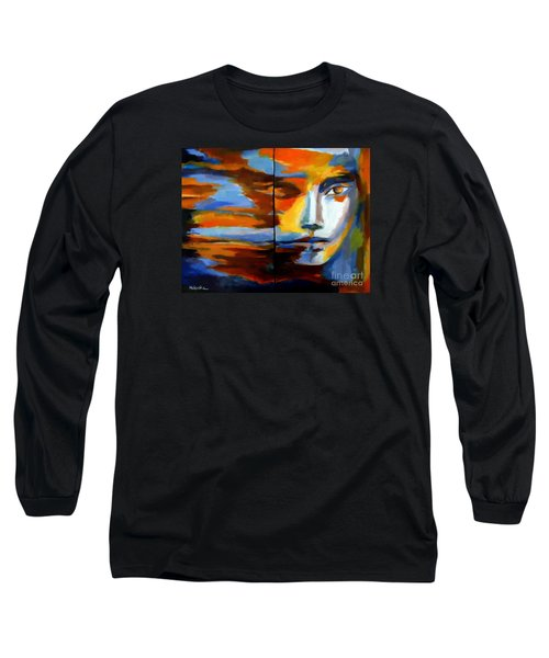 Long Sleeve T-Shirt featuring the painting Transition - Diptic by Helena Wierzbicki
