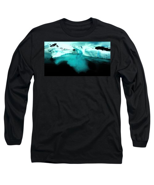 Long Sleeve T-Shirt featuring the photograph Transparent Iceberg by Amanda Stadther