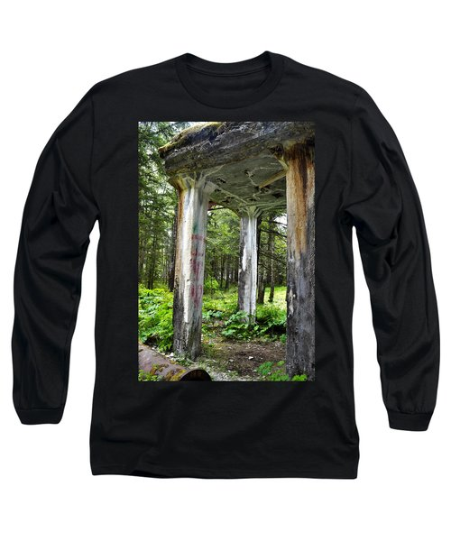 Treadwell Mine Building Long Sleeve T-Shirt by Cathy Mahnke