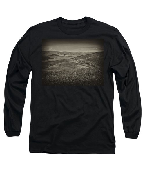 Long Sleeve T-Shirt featuring the photograph Tree In Sienna by Hugh Smith