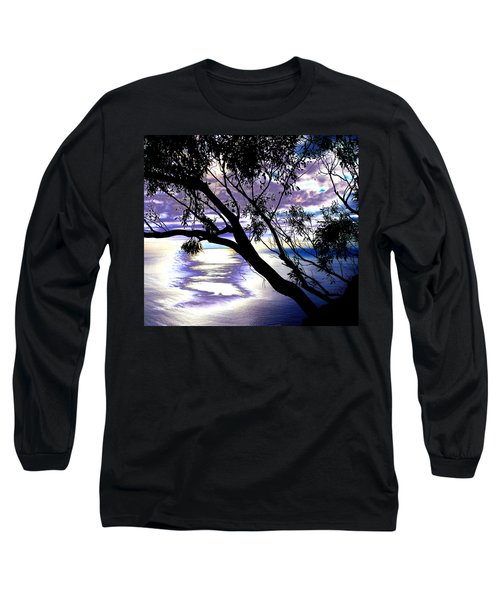 Tree In Silhouette Long Sleeve T-Shirt