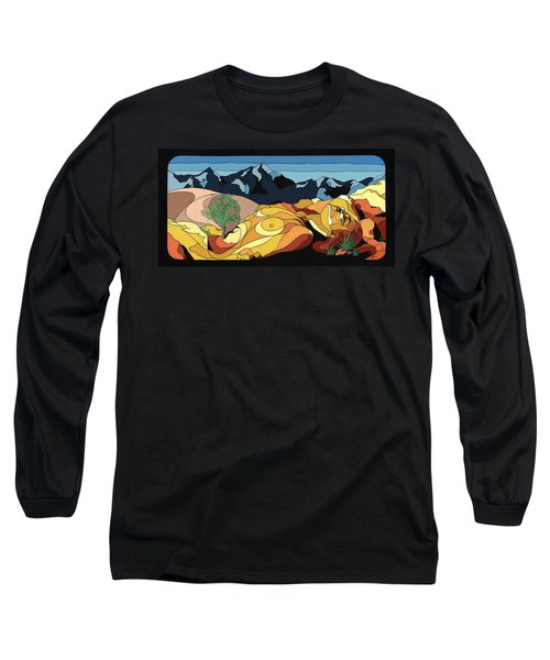 Tree Of Life Painting W/ Hidden Picture Long Sleeve T-Shirt