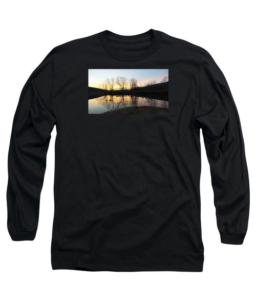 Tree Reflections Landscape Long Sleeve T-Shirt