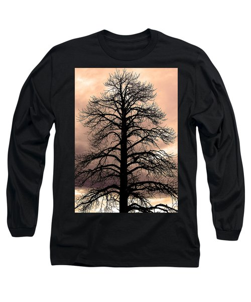Tree Silhouette Long Sleeve T-Shirt by Laurel Powell