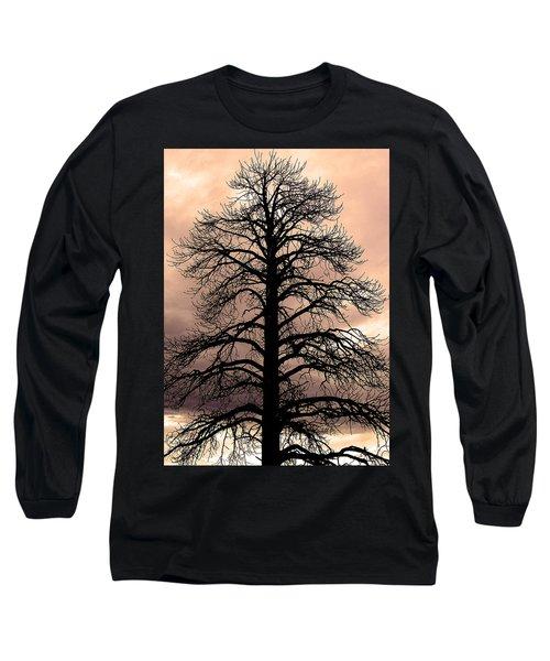Tree Silhouette Long Sleeve T-Shirt