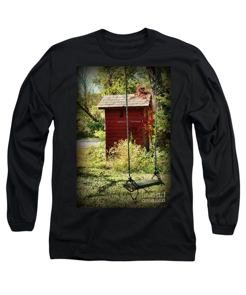 Tree Swing By The Outhouse Long Sleeve T-Shirt
