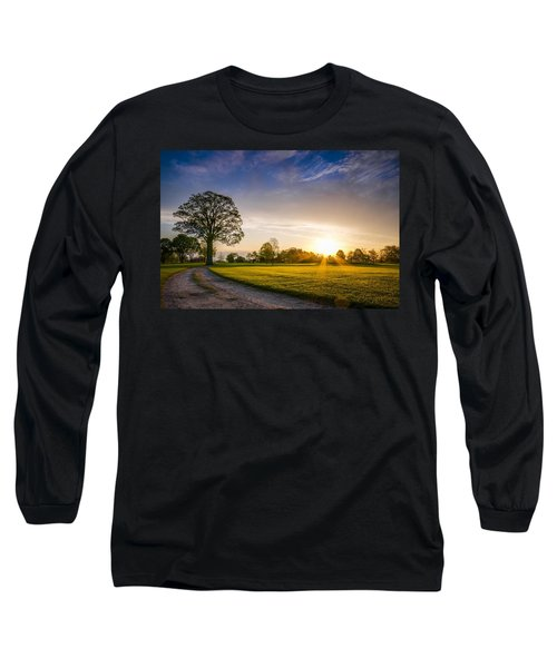 Trees At Dawn On Golf Course Long Sleeve T-Shirt