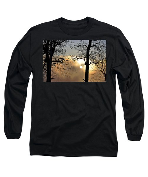 Trees On Misty Morning Long Sleeve T-Shirt