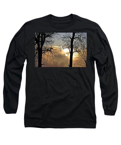 Trees On Misty Morning Long Sleeve T-Shirt