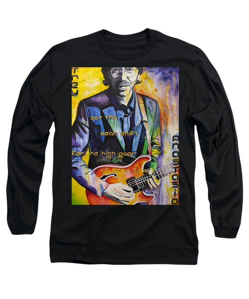 Long Sleeve T-Shirt featuring the painting Trey Anastasio And Antelope Lryics by Joshua Morton