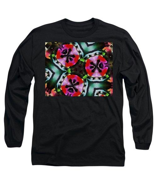 Long Sleeve T-Shirt featuring the digital art Triad by David Lane