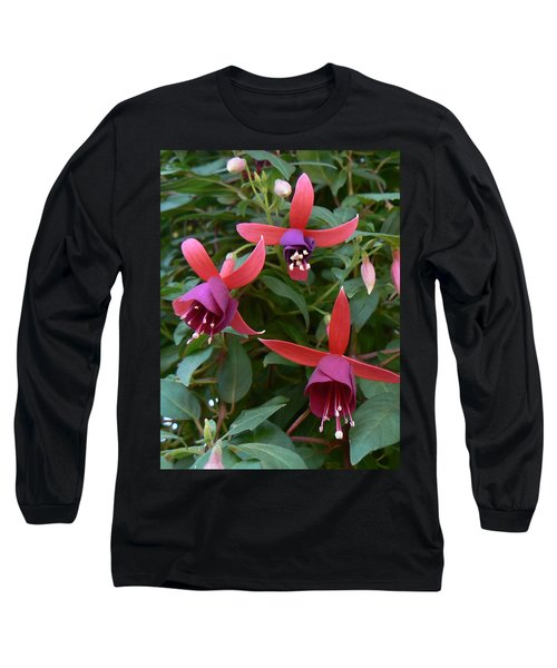 Long Sleeve T-Shirt featuring the photograph Trifecta by Michael Porchik