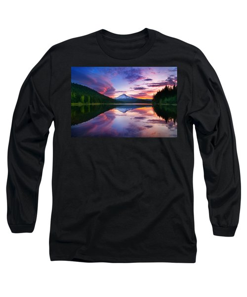 Trillium Lake Sunrise Long Sleeve T-Shirt
