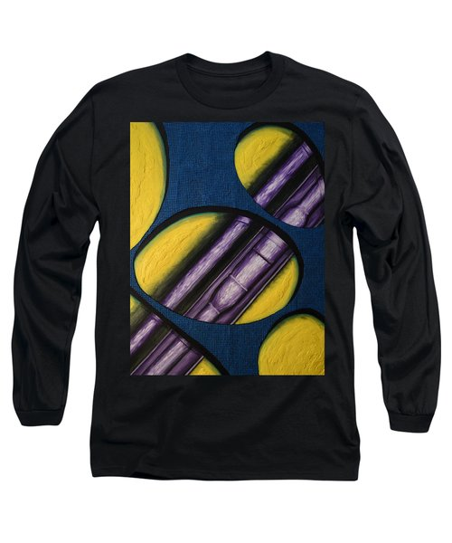 Long Sleeve T-Shirt featuring the painting Tripping Pipe by Shawn Marlow
