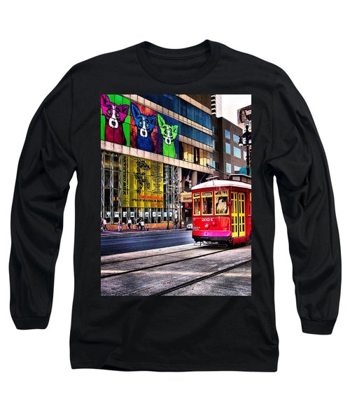 Long Sleeve T-Shirt featuring the photograph Trolley Time by Robert McCubbin