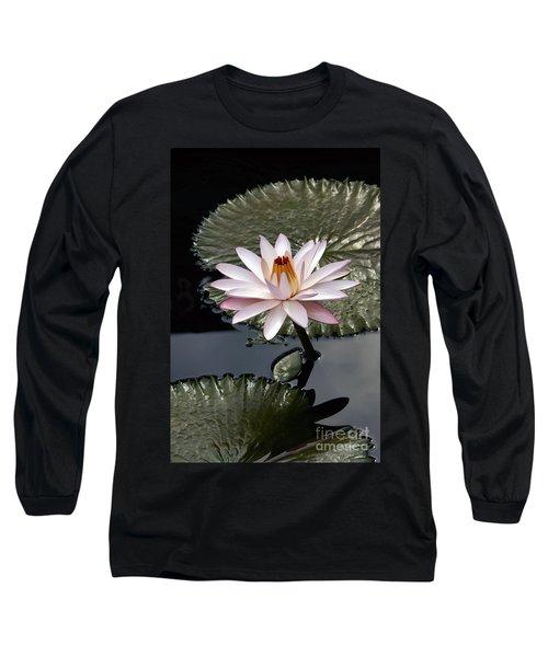 Tropical Floral Elegance Long Sleeve T-Shirt by Byron Varvarigos