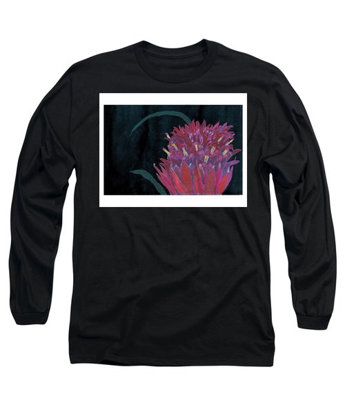 Tropical Flower Long Sleeve T-Shirt by C Sitton