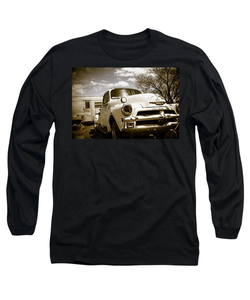 Long Sleeve T-Shirt featuring the photograph Truck And Trailer by Steven Bateson