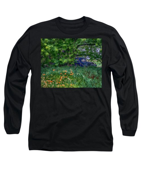 Truck In The Forest Long Sleeve T-Shirt by Paul Freidlund