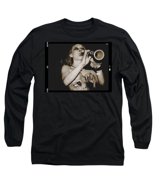 Long Sleeve T-Shirt featuring the photograph Trumpet Lady by Alice Gipson