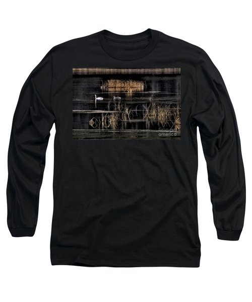 Trumpeter Swans A Swimming Long Sleeve T-Shirt